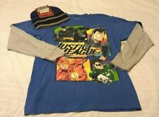 DC Comics Boys T-shirt  Beanie Hat Set 2XL 18