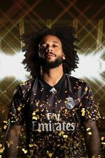 Real Madrid Gold Black Jersey 2019/2020 Marcelo Soccer Shirt EA SPORTS