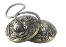 Everest Bazaar Tingsha Tibetan Chimes Meditation Bell Dragon Embossed, 2.5inch