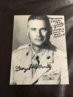 Corsair USMC ACE GUADALCANAL George Hollowell Signed Photo - 7 Kills