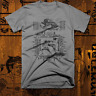 Muay Thai T-shirt MMA, UFC, Jiu Jitsu Fight Club Thai Box Sak Yant Tattoo Gray