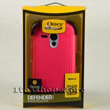 OtterBox Defender Motorola Moto G Hard Case w/Holster Belt Clip White Gray/Pink