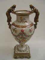 99937876-dss Messing Keramik Amphore Vase Schönheiten Historismus H48cm