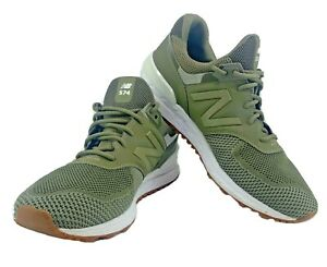 New Balance 574 Sport Classic Shoes MS574EMO Green Men's Size 10.5