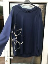 Size 18 petite from NEXT excellent condition navy blue thin long sleeve t shirt