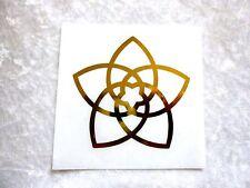 Aufkleber Venus Venusblume gold 1 Stück 7,5cm RESTBESTAND!!!