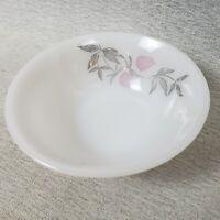6 Milk Glass Vintage Berry Dessert Bowls Federal Glass Clover Blossom Pattern US