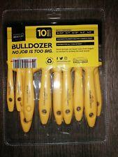 PAINT BRUSH SET Charles Bentley - 2x 10 pack Tradesman Yellow Bulldozer.