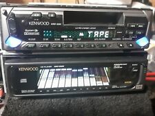 Old School Kenwood Tape Car Stereo EQ Equalizer & CD Spectrum Analyzer KDC D300