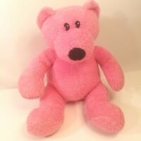 "Toy Works Pink Plush Bear 14"" Stuffed Animal"