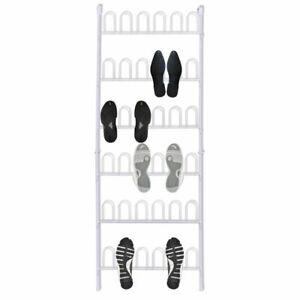 vidaXL Organizador de Zapatos Colgante de Metal 18 Pares Zapatero de Puerta