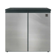 Rca 5.5 Cubic Feet Side by Side 2 Door Fridge Freezer, Stainless Steel, (Rfr551