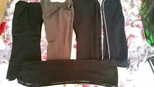 bundle 5 girls grey black school trousers. 3 and 3/4 years used