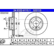 ORIGINAL ATE Bremsscheiben Satz Power Disc vorne BMW 3er Bj.90-