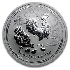 Perth Mint Australia 2017 Lunar Rooster 1/2 oz .9999 Silver Coin