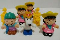 Fisher Price Little People PEANUTS Snoopy Lucy Linus Figures Vtg Lot