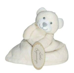 Little Beginnings Beige BEAR Plush Embossed ABC Baby Security Blanket Lovey NWT
