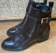 BN Ladies H&M Brown Flat Ankle Boots - Size 3 (36)