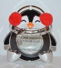 Bath & Body Works Fuzzy Penguin Scentportable Holder Car Visor Clip Freshener