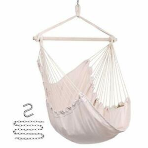 Y- STOP Hammock Chair Hanging Rope Swing Hanging Chair with Pocket Max 330 Lb...