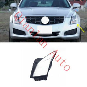 Left Side Lucency Headlight Cover With Glue For Cadillac ATS 2013-2018