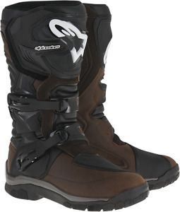 Alpinestars Brown Mens Leather Corazal Dryster Motorcycle Off road Riding Boots