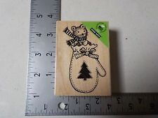 HERO ARTS #H5523 MITTEN MOUSE WOOD MOUNT RUBBER STAMP NEW A1500