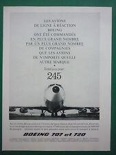 10/1960 PUB BOEING 707 720 AIRLINER PIA EL AL BOAC CUBANA AIRLINES FRENCH AD