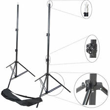 Kit 2x Trépied Studio DynaSun W957 250cm Support de Fond Pied Photo Video + Sac