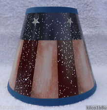 New RUSTIC AMERICANA Paper Chandelier, Sconce -Candle Lampshade Red, white blue