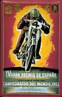 Carrera de Motocicletas España 1953 Letrero Metal 3D en Relieve Cartel Lata
