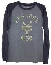 Gray Zoo York Long Sleeve Shirt with Camouflage Zoo York ZY Logo Size S MSRP $36
