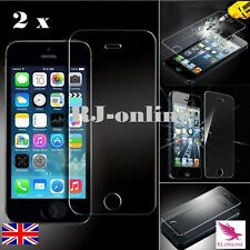 2 X 100 Genuine Tempered Glass Film Screen Protector for Apple iPhone 5s 5c