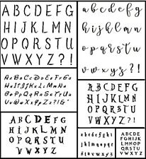 *4 FOR 3* Many Fonts & Sizes - Alphabet Letter Stencil - Re-usable, flexible