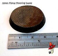 10 x 32mm Metal flooring Round Resin Bases 40k wargames industrial space marine