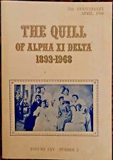 Alpha Xi Delta 1893-1968 75th Anniversary Book Manual Volume LXV Number 2
