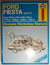 Haynes Owner Workshop Manual Ford Fiesta Aug 1983 to Feb 1989 1.0 to 1.6