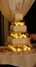 3 Tier Wedding Cake Stand Dividers Boxes Clear Acrylic Fillable removable lids