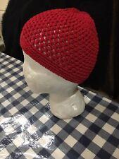 9950ecff437d6 Muslim Kufi Cap Hat Red Beanie African Topi knitted Mens Skull Cap 100%  Cotton