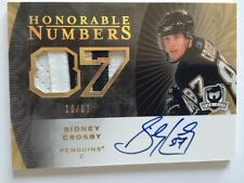 2007-08 THE CUP SIDNEY CROSBY HONORABLE NUMBERS AUTO 18/87