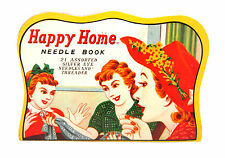 Vintage Happy Home 21 Assorted Needles & Threader Pack Book Booklet (Japan)