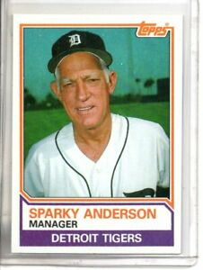 1983 TOPPS SPARKY ANDERSON (NM/MT OR BETTER) //