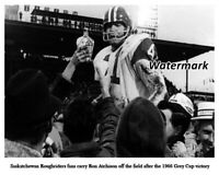 CFL 1966 Ron Atchison Saskatchewan Roughriders Grey Cup Win 8 X 10 Photo Picture