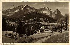 Garmisch-Partenkirchen ~1933/39 Gschwandtnerbauer Gasthaus Alpspitze Zugspitze