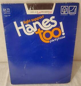Vintage 1985 Hanes Too Pantyhose Sz A-b Cranberry New Nos