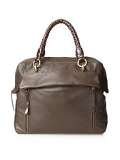 Carla Mancini Naomi Brown Satchel Zip Top Supple Leather NWT MSRP 545.00 REDUCED