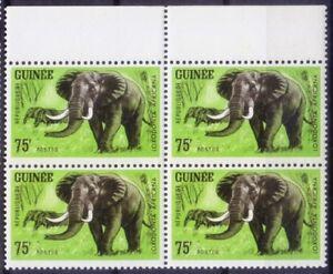 African Elephant, Loxodonta africana, Animals, Guinea Republic 1964 MNH Blk