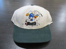 Vintage Daffy Duck Strap Back Hat Cap Golf White Green Adjustable Kids Boys 90s