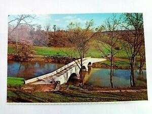 Vintage Postcard Antietam National Battlefield Sharpsburg MD Burnside Bridge