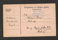 WWI-AUSTRIA-CROATIA-HUNGARY-MYLIARY POSTACRD-FELDPOST-CENSORSHIP, ZAGREB 2-1916